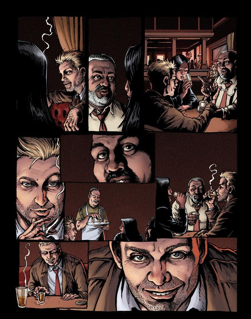Hellblazer Rise and Fall Num 1 Página de vista previa D