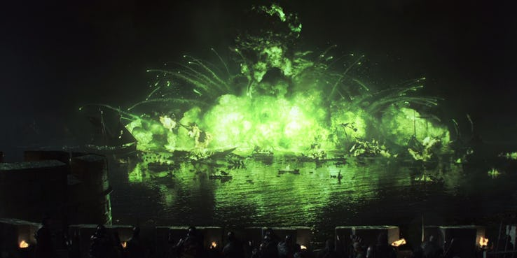 Explosion-At-The-Battle-Of-Blackwater-on-Game-of-Thrones